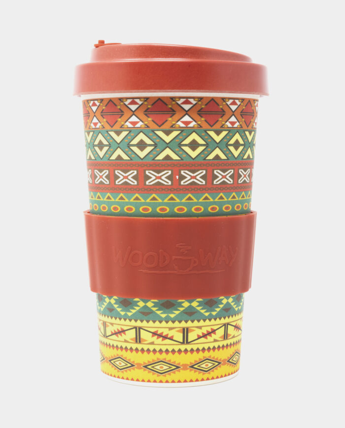 Orange Aztec Bamboo Cup