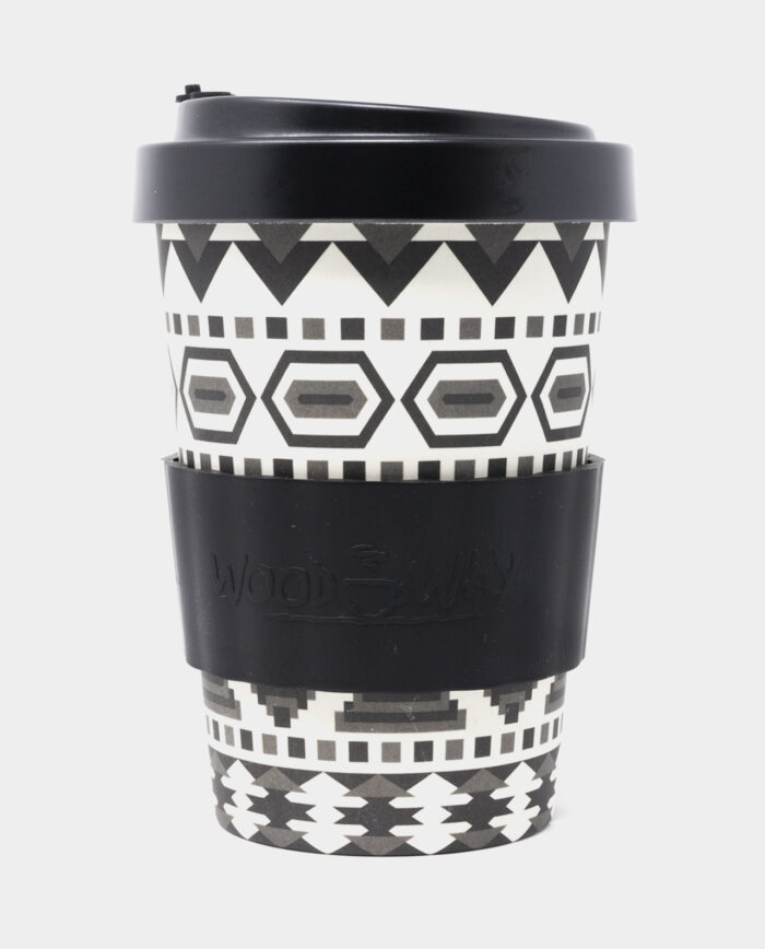 Black Aztec Bamboo Cup