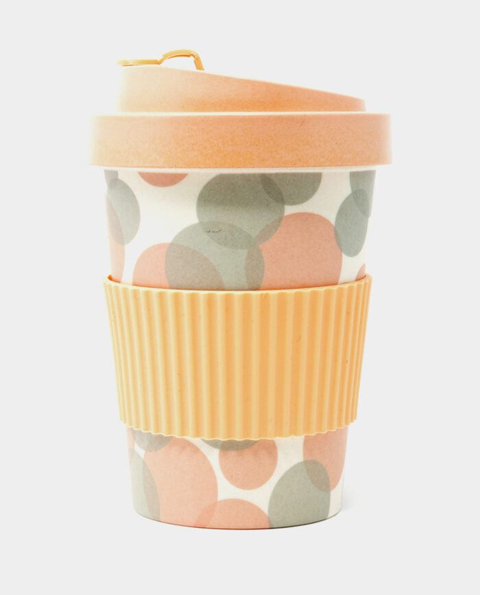 Pink Bubble Bamboo Cup