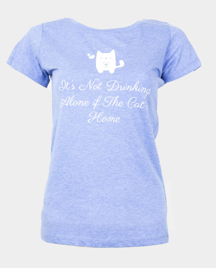 It's not drinking alone..cat heathered blue