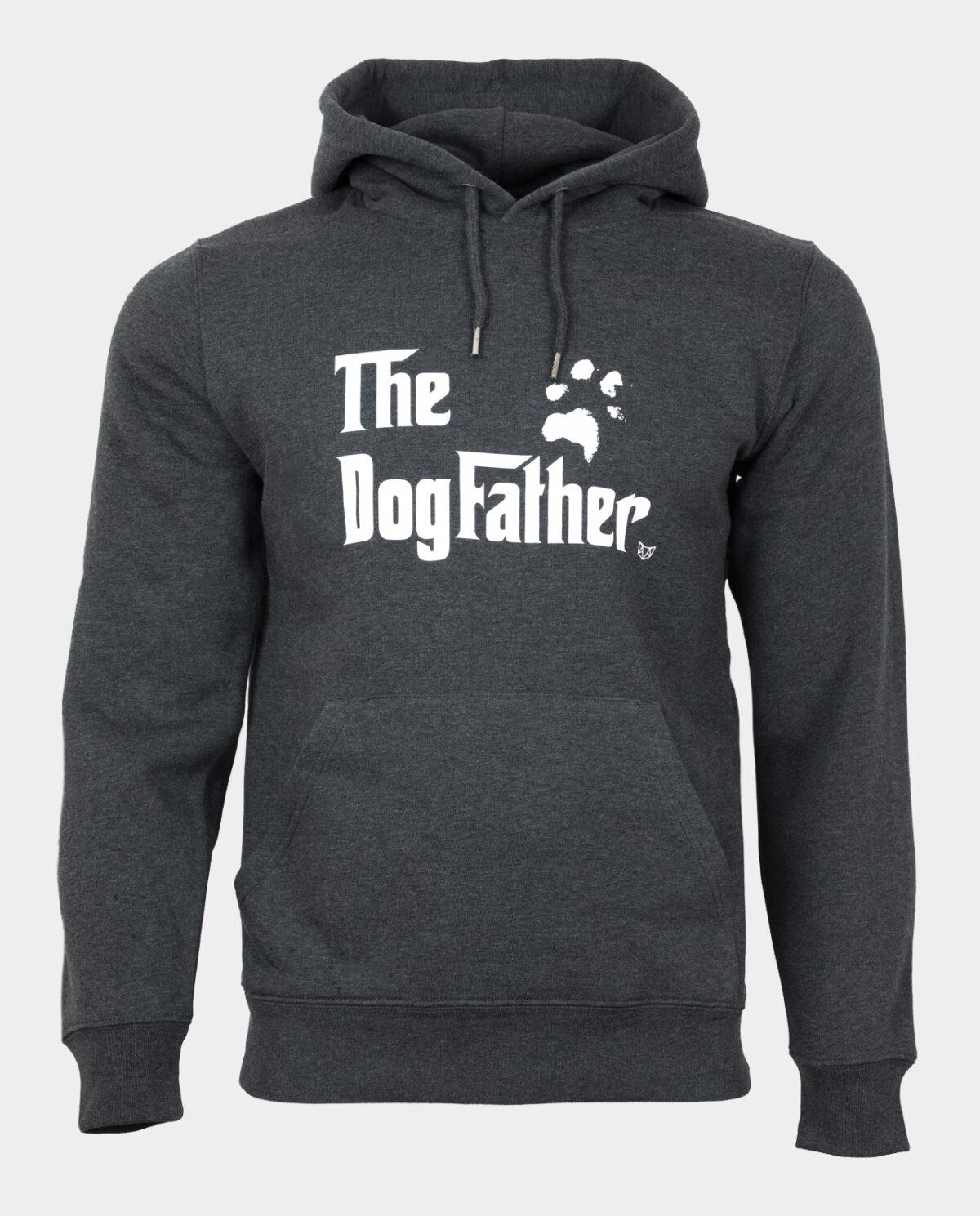 The Dogfather Hoodie Dark Heather Grey