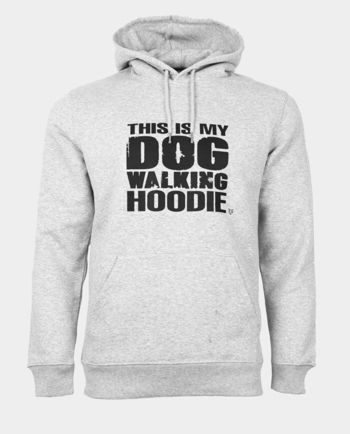 Dog Walking Hoodie Heather Grey