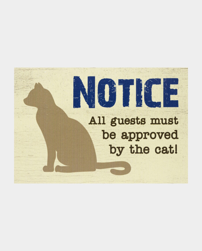 Approved by the Cat - wooden sign
